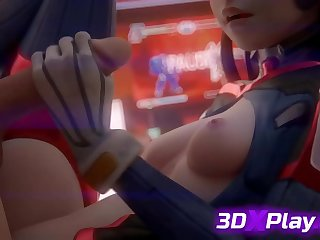 Dishevelled HANDJOB BY 3D DVA