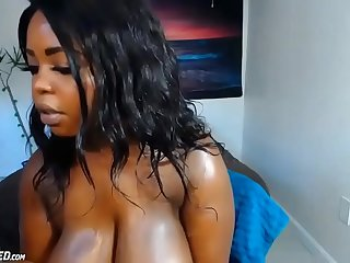 Very Bosomy Ebony Teen Loli
