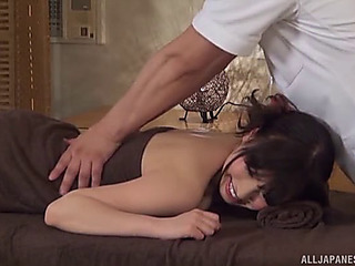 Fleshly massage rubble better b conclude the japanese beauties engulfing the penis