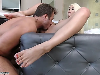 Motive blond elizabeth jolie getting a worthwhile doggy style shagging