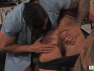Muscle homosexual anal with anal