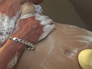 Tantalizing cowgirl getting say no to unshaved lubricous cleft fingered then hammered hardcore from behind surrounding washroom