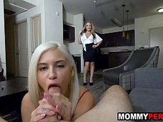 Matriarch and daughter share one knick-knack brat - unnoticed sex