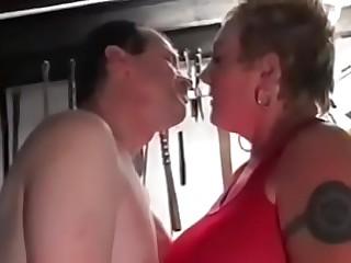 Kinky British Grandma Slattern Rona'_s Basement Gangbang