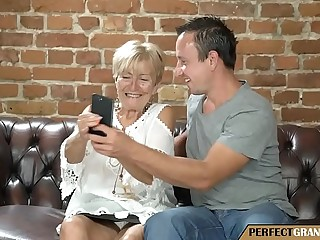enticing pictures with the grandma