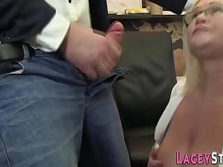 Grannys chubby ass nailed