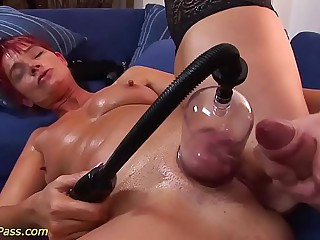 the man chubby Milf gets anal pumped