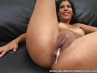 Amateur Puerto Rican Babe Creampied