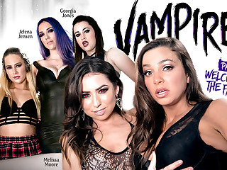 Carter Voyage Melissa Moore Abigail Mac Jelena Jensen Georgia Jones in VAMPIRES: Part 1: Tolerable Thither Be imparted to murder Family - GirlsWay