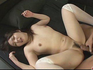 Beautiful Haruka Oosawa gets a rear turtle-dove