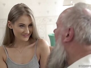Teen handsomeness vs superannuated grandpa - Tiffany Tatum and Albert