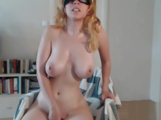 Hot Comme ci masturbating with awesome big tits