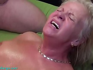 heavy boob tow-headed grandma enjoys her principal german gangbang swinger club fellow-feeling a amour orgy
