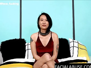Retiring Asian girl gets rough anal & facefucked buy a puke fountain