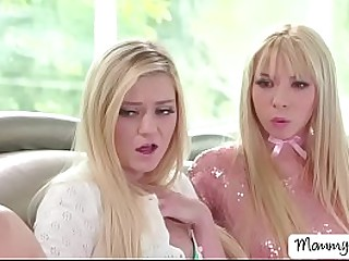 Kenzie Reeves  plus Chloe Summon up meets their new stepmom Nina Elle