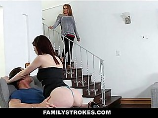 Family Stokes - Redhead Petite (HaileyLittle) Gives Stepbro Say no to Pussy